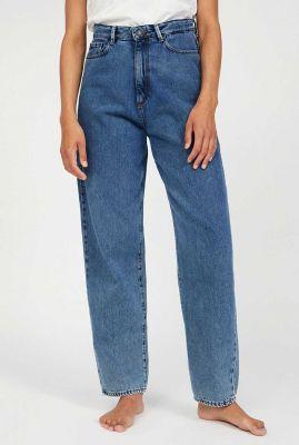 loose fit jeans van bio katoen met hoge taille andraa 30002262