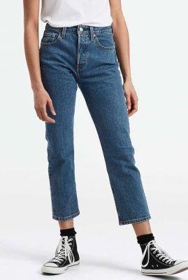 501 cropped jeans met high waist en medium wassing 36200-0073