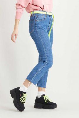 501 high waist crop jeans van katoen neutral 36200-0142