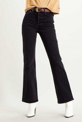 zwarte ribcage flared jeans met high waist 36934-0003