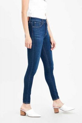 720 high-rise super skinny jeans donkerblauw 52797-0138