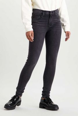 high waisted donker grijze super skinny jeans 52797-0185