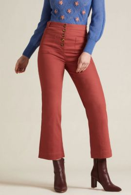 roestrode broek high waisted pocket pant sturdy 04810