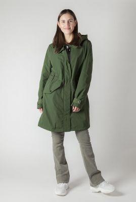 donker groene parka jas met capuchon 6604214