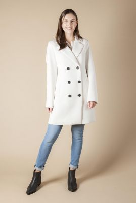halflange double breasted jas met reverskraag 6611222