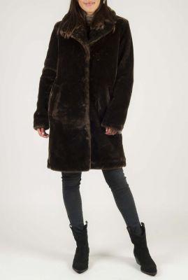 half lange faux fur jas 6613141