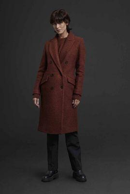 double-breasted mantel jas van een zachte wolmix 6619343