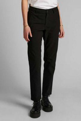 zwarte pantalon van katoenmix 700312 nucerelia pant