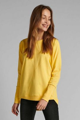 gele sweater met deelnaden nunikola sweat 700454