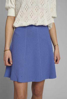 blauwe viscosemix rok met rib dessin nulillypilly skirt 700460