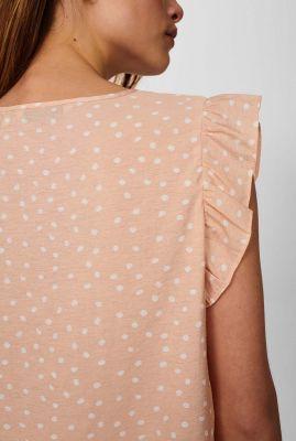 licht roze top met stippen print nubella 700649