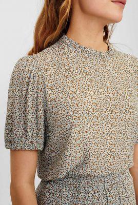 ecovero viscose top met vlekken dessin nucecelia blouse 700672