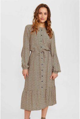 midi jurk met vlekken dessin nucecelia casey dress 700674