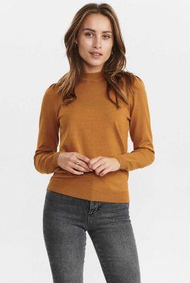 fijn gebreide trui met opstaande kraag nubaojin pullover 700771