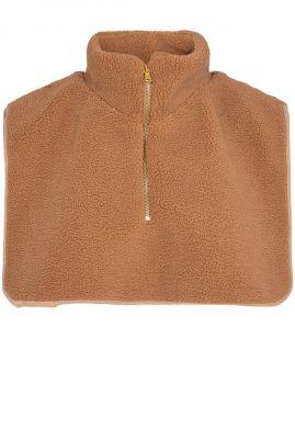camel kleurige col sjaal met ritssluiting nusoftie collar 701068