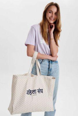 x littlebighelp witte tas met opdruk nusisterhood shopper lbh 701089
