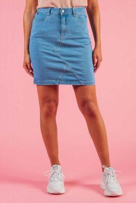 korte spijker rok met stretch nuayleth 7220107