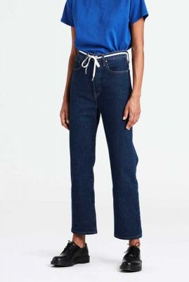 donkerblauwe ribcage straight ankle jeans 72693-0002