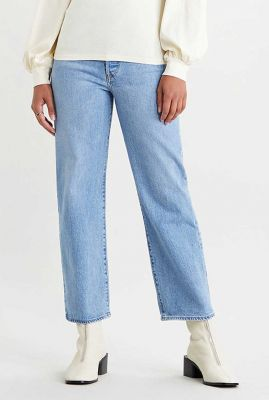 blauwe jeans ribcage straight ankle jeans 72693-0052
