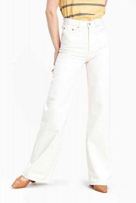 ecru kleurige ribcage wide leg jeans 79112-0009