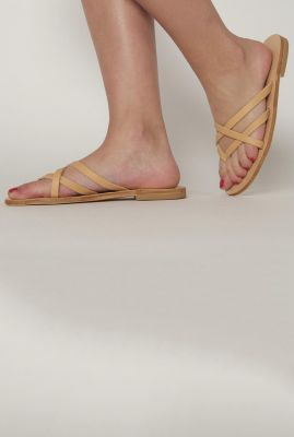 gevlochten leren sandaal sl t 01