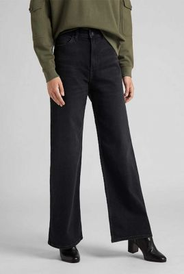 zwarte high waist jeans met flared broekspijp a line flare l31scpty