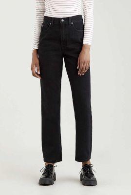 zwarte 70s high slim straight jeans a0898-0007