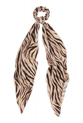 lichte scrunchie sjaal met zebra print ac sunny zebra scarf