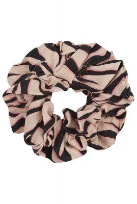 beige viscose scrunchie met all-over zebra print ac sunny zebra