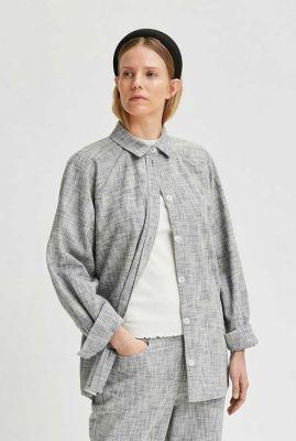 gemêleerde blouse met oversized pasvorm alba overshirt 16077871