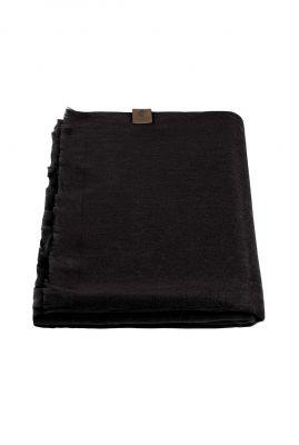 zachte zwarte sjaal van alpaca wolmix black scarf