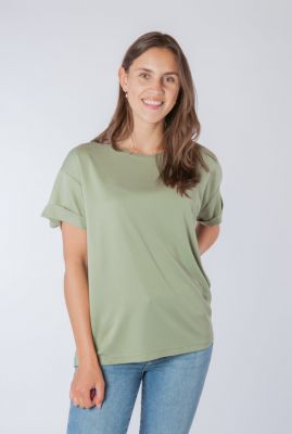soepel vallend t-shirt met korte mouwen amana