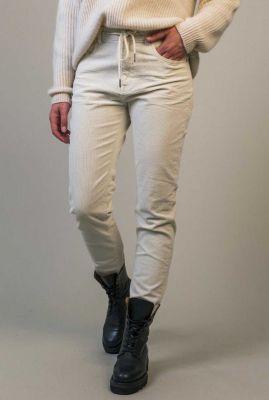 off white broek met rib dessin amber w21.2.2602