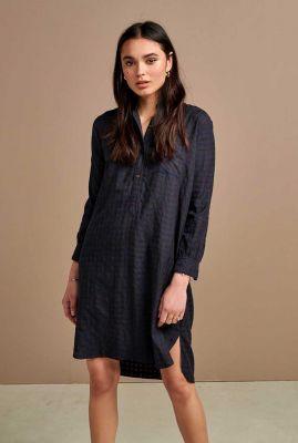 blauwe overhemd jurk met ruiten dessin amerik c0977