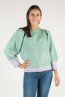 groene trui met pofmouwen amira