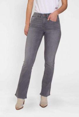 grijze flared jeans van biologisch katoen amy 21-29