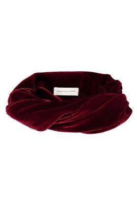 bordeaux rode fluwelen haarband bandeau gaby