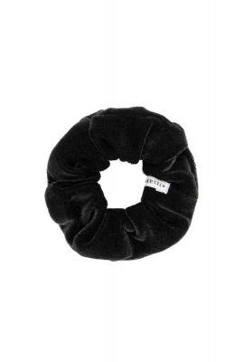 kleine fluwelen scrunchie zwart tamar mini