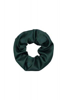 groene satijnen scrunchie faux