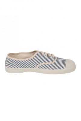 Blauw met wit gestreepte lage sneakers  f15004c23d