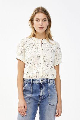 opengewerkte blouse met broderie anglaise bloom emb blouse