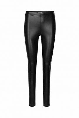 slim fit imitatieleren legging met ritssluiting body