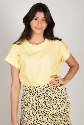 geel t-shirt met vaste omgeslagen mouw brazil t-shirt
