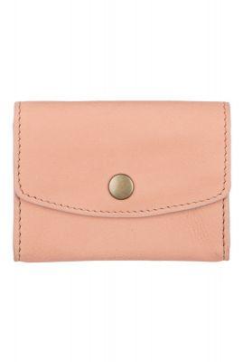 kleine leren portemonnee met drukknoop julie rosa wallet