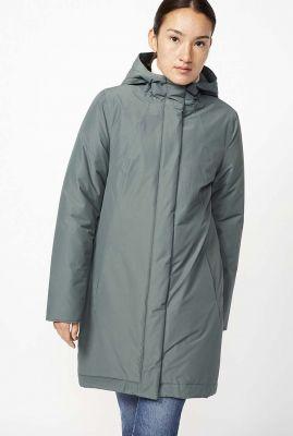 half lange jas met capuchon ariza coat