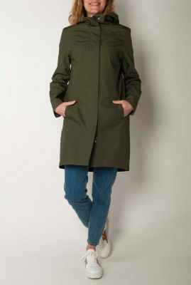 half lange donker groene parka jas ariza coat c042cs06