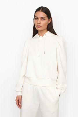 off-white trui met pofmouwen en capuchon carmella sweat hoodie