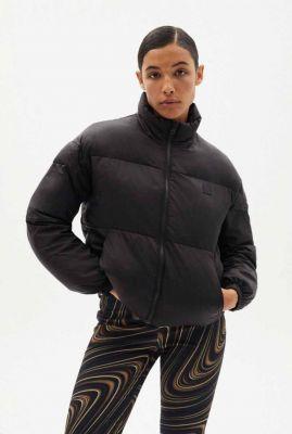 zwarte puffer jas black trash emma ecodown jacket wjk00049