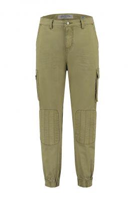 leger groene broek met knie stukken lennox pants w20.23.1366