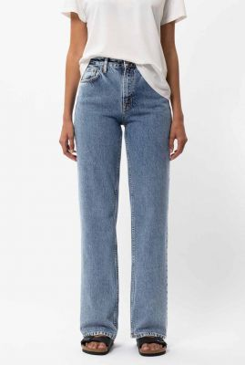 high waist straight jeans clean eileen gentle fade 113632